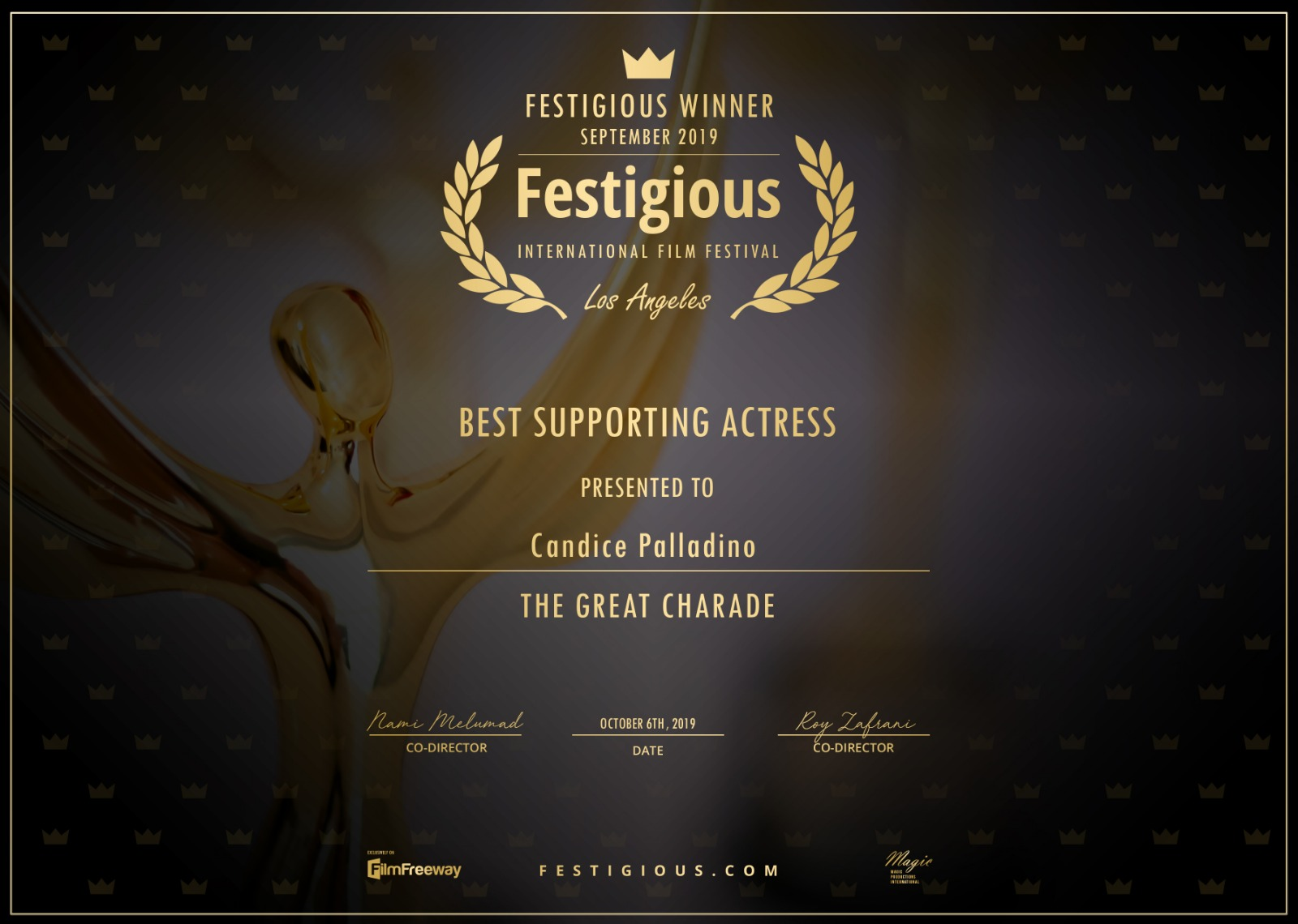 Best Support Actress - Festigious